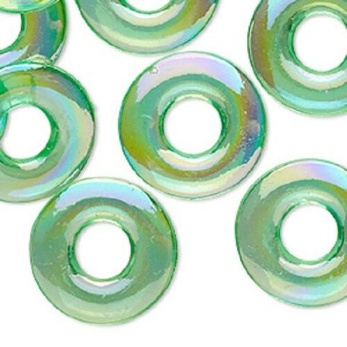 Beads Acrylic Undrilled FLAT ROUND DONUT Transparent ~ Various Sizes /& Colors