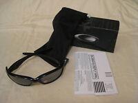 New Oakley Straight Jacket Sunglasses Polished Black Iridium Polarized 12-935