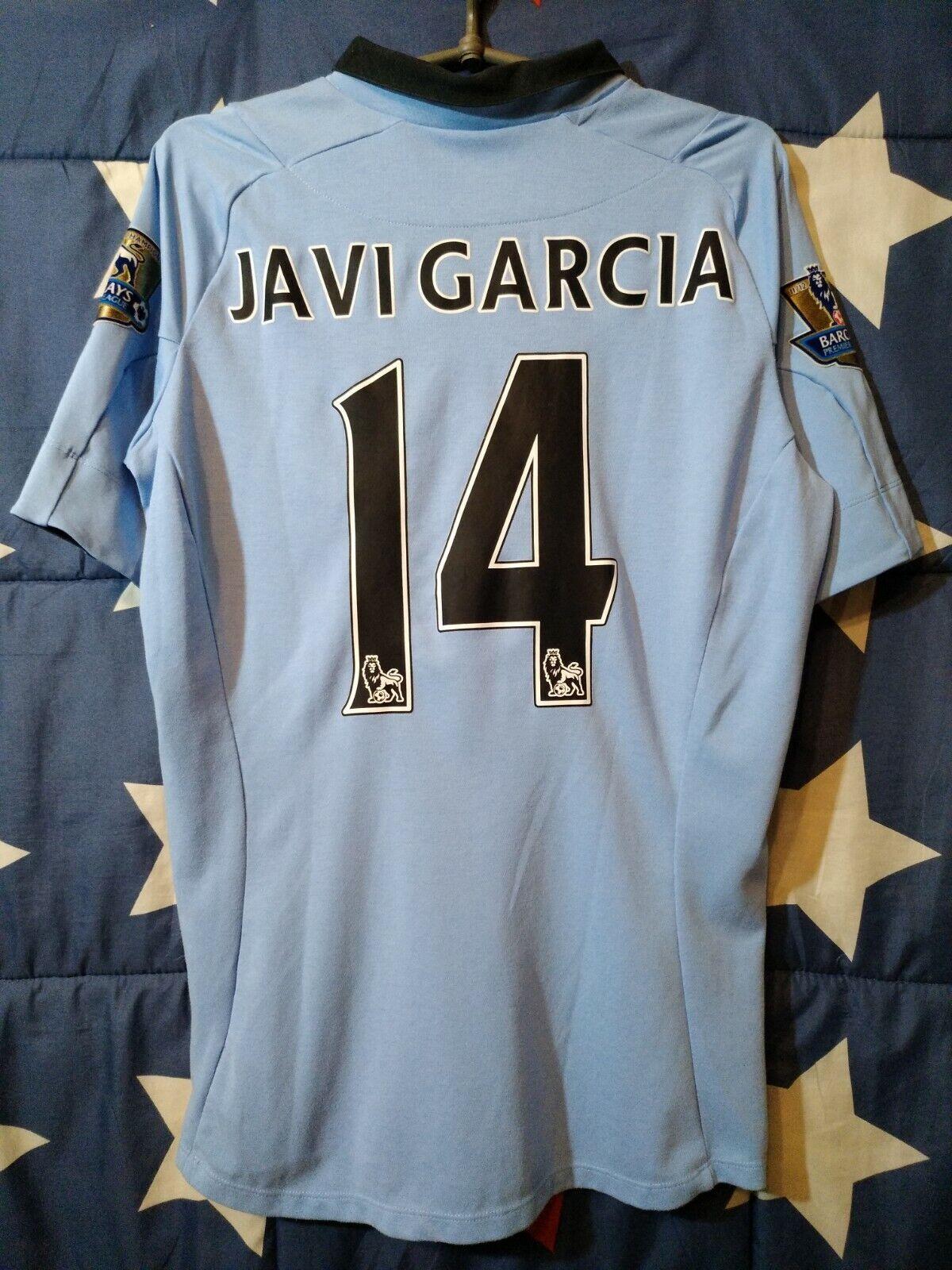 Größe S Manchester City 2012-2013 Home Football Shirt Jersey Javi Garcia