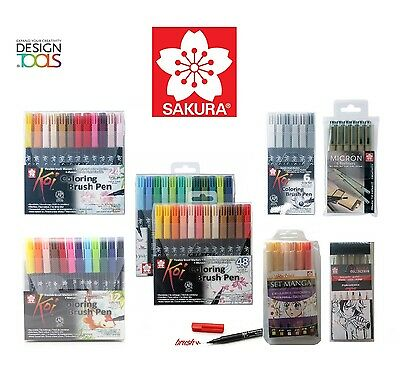 Sakura Koi Colouring Brush Pens Water Based Marker Sets