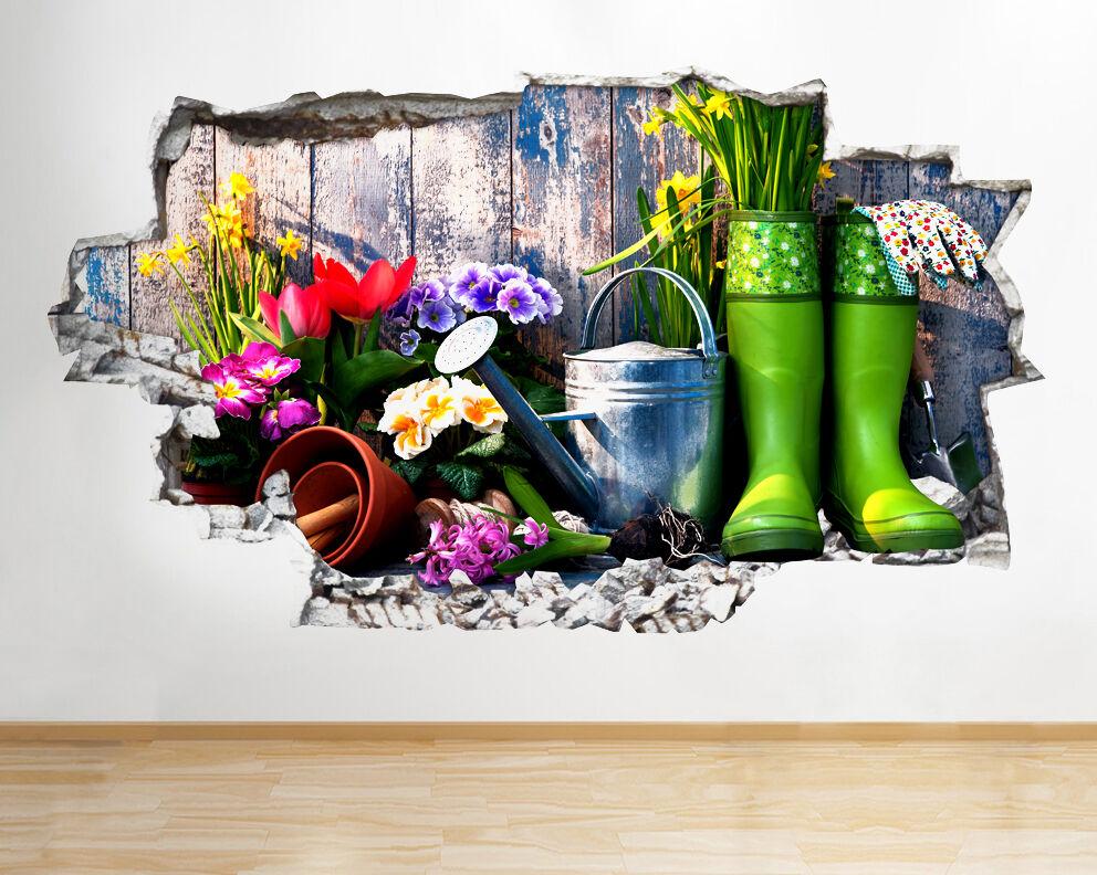 Q620 jardinería Hobby Flores Salón Sma pegatina pared vinilo 3d habitación niños