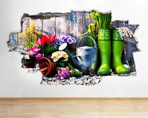 Q620-jardineria-Hobby-Flores-Salon-Sma-pegatina-pared-vinilo-3d-habitacion-ninos