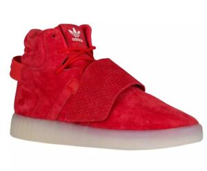 Details about Adidas Originals Tubular Invader Strap Red Mens Sz 12 Suede SHOES Sneaker BB5039