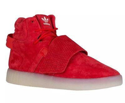 promo code 92516 7410b Adidas Originals Tubular Invader Strap Red Mens Sz 12 Suede SHOES Sneaker  BB5039 | eBay