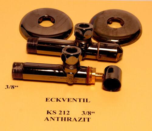 """2x Eckventil 3//8/"""" x  3//8/"""" KS 212  ANTHRAZIT oder GRAPHIT oder Verchromt  Auswahl"""