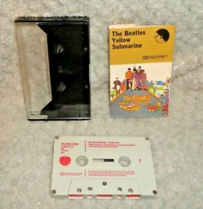 The-Beatles-Yellow-Submarine-Music-Cassette-Tape-Red