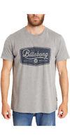 BILLABONG MENS T SHIRT.PITS TOP SHORT SLEEVED SLEEVED GREY COTTON TOP 7S/13/9