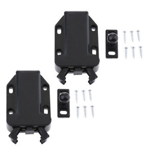Loft Catch Hatch Push Attic Cupboard Latch Press Lock Cabinet Panel Black Atv,rv,boat & Other Vehicle