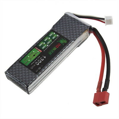 Lion Power Battery 11.1V 1300Mah MAX 40C T RC Car Airplane Helicopter Lipos RCs
