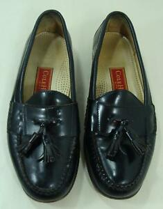 a8321a8de9f Image is loading Cole-Haan-Mens-Black-Leather-Shoes-Tassel-Loafer-