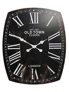 Vintage-Shabby-Chic-Style-Black-Clock-Old-Town