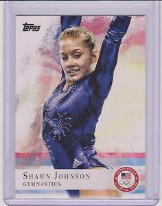 2012-TOPPS-OLYMPIC-SHAWN-JOHNSON-GYMNASTICS-BASE-CARD-1-MULTIPLES