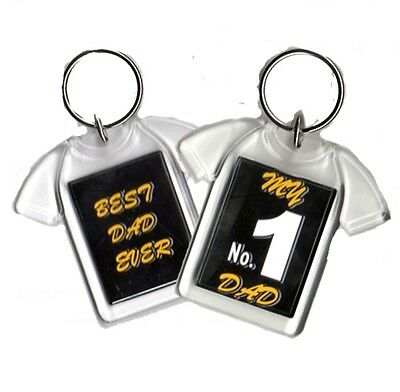 My Number 1 Dad, Best Dad Ever, Football T-Shirt Style Keyring Fathers Day Gift