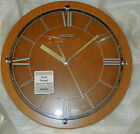 SEIKO  WALL CLOCK - LIGHT BROWN WOODEN CASE  11.75