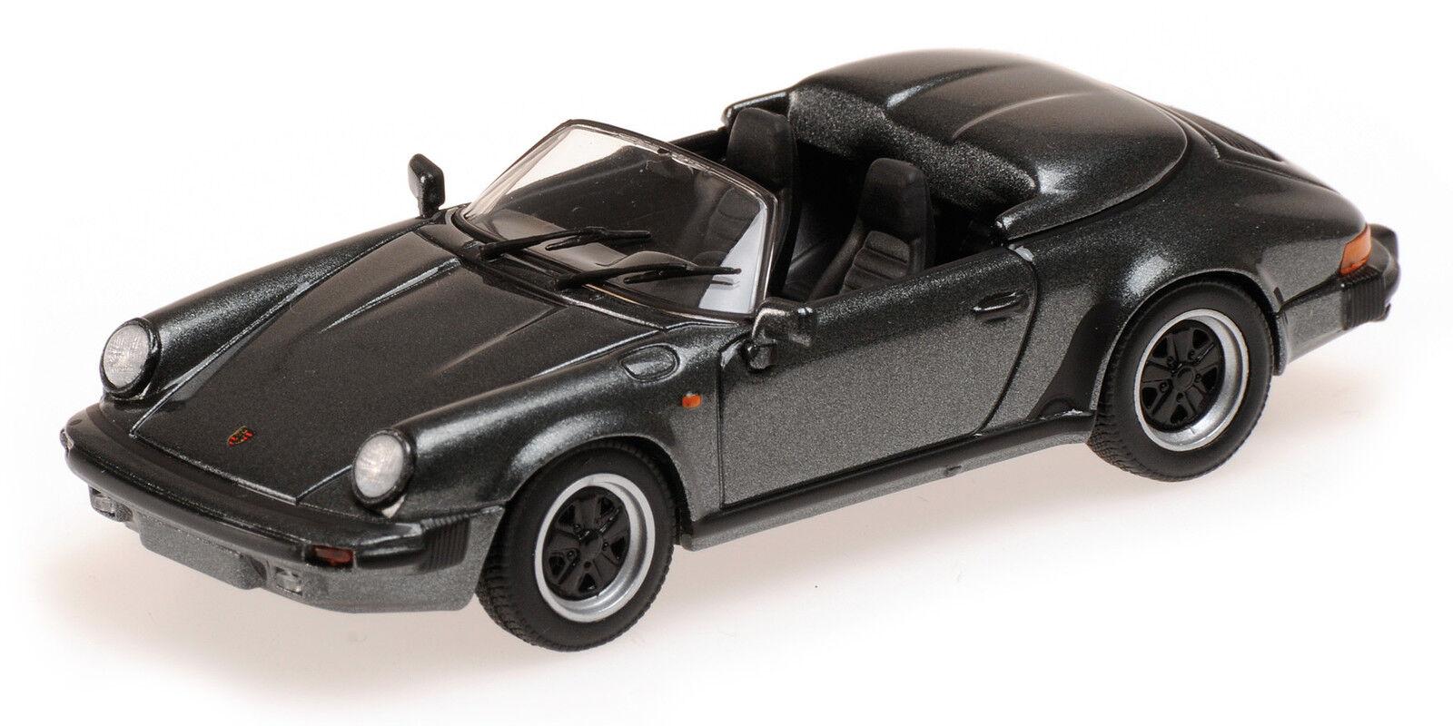 Porsche speedsters 1988 gris metallic  1 43 model 430066135 minichamps  magasin en ligne