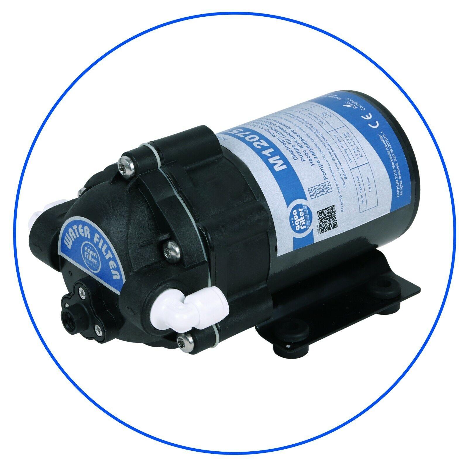 Filtre membrane Booster Pompe eau RO avec armatures 75 GPD 24 V DC