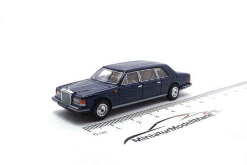 #87361 bos rolls royce silver spur II Touring sedán 1985-azul oscuro 1:87
