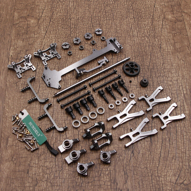 WLtoys1 18 A949 A959 A969 A979 K929 Upgraded Metal RC Car Parts DIY Kit Titanium