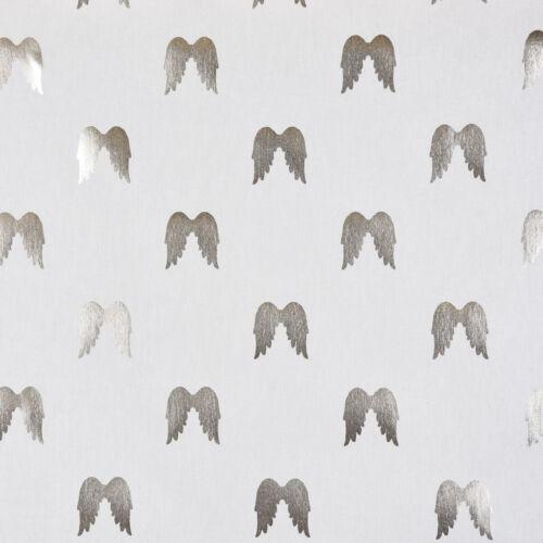 SCHÖNER LEBEN. Tischdecke Engelsflügel weiß silber metallic verschiedene Größen