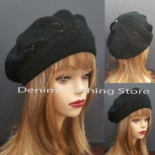 Women Winter Spring Summer Baggy Crochet Knit Slouchy Beanie Beret Cap Ski Hat