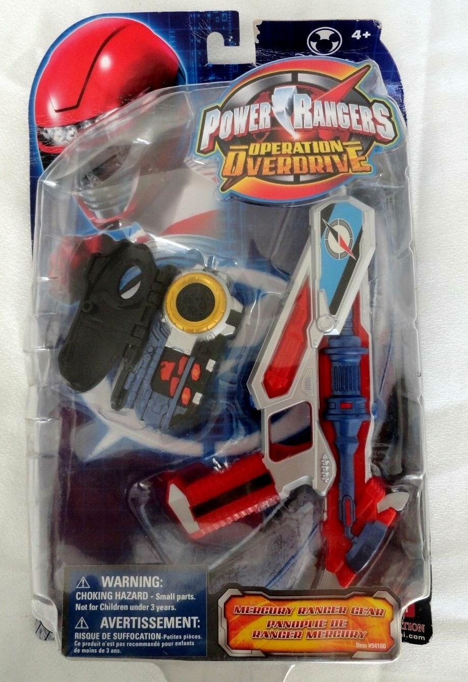Power Rangers Operation Overdrive Mercury Ranger Gear set New 2007 (bends)