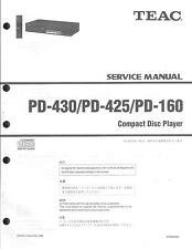 TEAC Original Service Manual für  PD-430/PD-425/PD-160