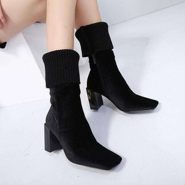 stivali stivaletti bassi  stiletto 8 cm caviglia nero comodi simil pelle 9576