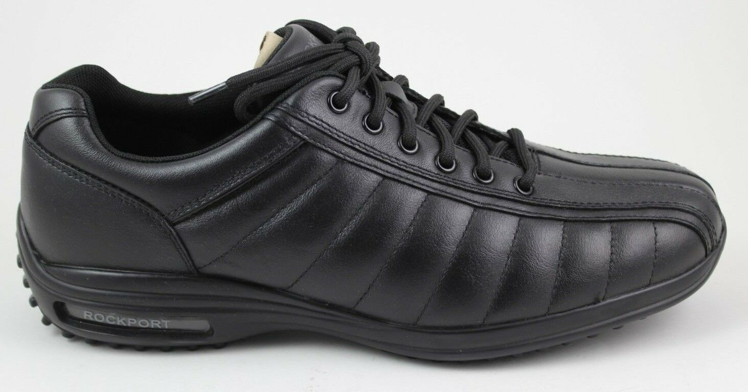 Men's Rockport CR Biketoe V80141 Black Quilte Adiprene By Adidas Brand New