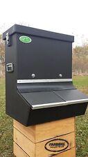 Double bin Pig Feeder, pig hopper, bulk feeder, Plastic feeder, 4-H feeder, Hog