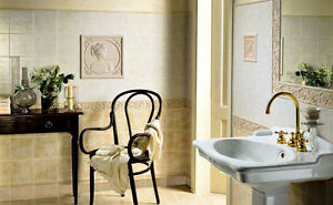 Piastrelle bagno pavimento rivestimento canova ambra beige
