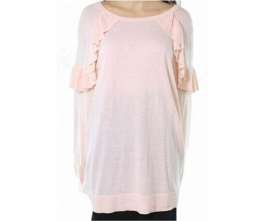 Sejour 0X Pink Sweater Top