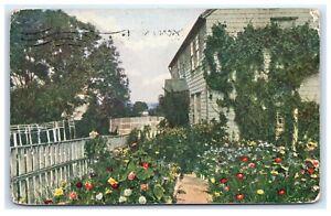 Postcard-An-Old-Homestead-Nantucket-MA-B20