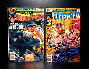 COMICS-Marvel-Spider-Woman-13-14-1979-the-Shroud-app-RARE