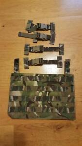 Genuine-British-Army-Osprey-MK4A-MTP-Molle-Ops-Panel-amp-4-T-Bar-Clips