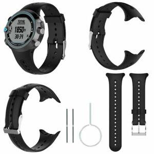Ersatz-Silikon-Sport-Armband-Uhrenarmband-Band-Strap-fuer-Garmin-Swim-Watch-Tools