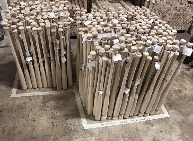 10 Wooden Blem Baseball Bats  (FREE SHIPPING )