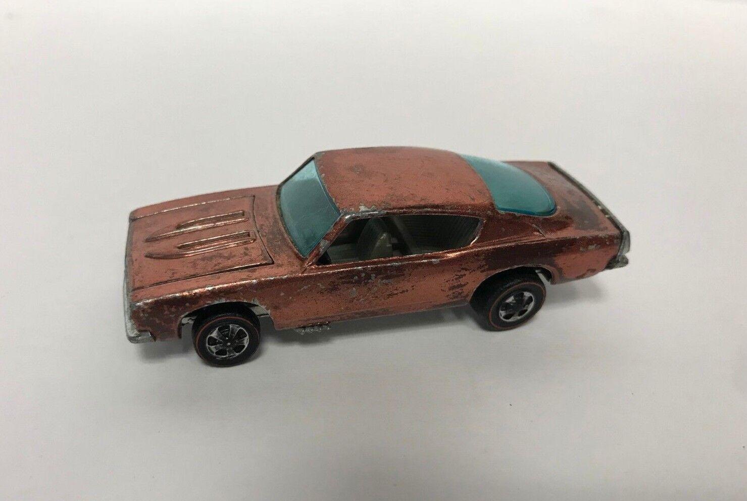 Original 1968 Hot Wheels rossoline CUSTOM BARRACUDA  Hong Kong  Rare Copper