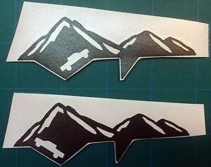 Premium Matte Black Vinyl Mountain Decals for 2016+ Tacoma