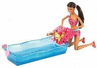 Barbie Swim & Race Pupps Aa Doll 2 Puppies 2012 X8405