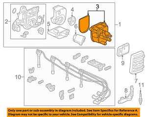acura honda oem 94 01 integra distributor cap 30102p72006 ebay GM Distributor Diagram image is loading acura honda oem 94 01 integra distributor cap