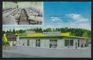 Gainesville Georgia Post Office Imperial Restaurant Lot of Two Vintage Postcards