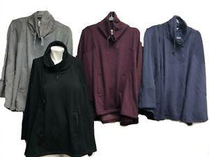 404046d4c7d Details about Ugg Australia Pichot Turtleneck Poncho with Pockets UA6132W  Batsleeve Sweater