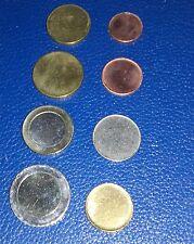 8 MONNAIES EURO NON FRAPPEES ISSUE DU STARTER KIT ( avec la 5 Cts blanche)