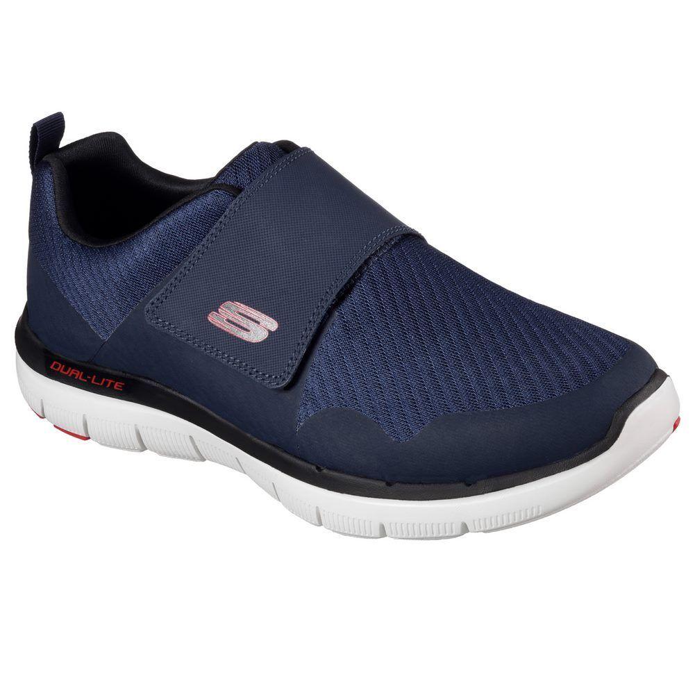 52183-NVRD  Skechers Shoes – Flex Advantage 2.0 Gurn blue/red 2017 Men Textile Seasonal clearance sale