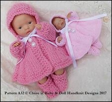 93dd215f3 Babydoll Handknit Designs Dress Set A26 Knitting Pattern 4-8