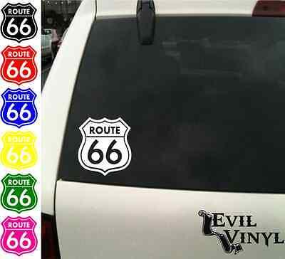 Route 66 Decal Car Window California Missouri Highway AZ Sticker Vinyl ANY SIZE