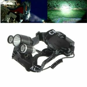 XPE COB LED 6 Mode Headlight Straps Adjustable Headlamp Rechargeable Head Torch