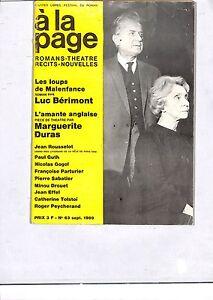 REVUE-034-A-LA-PAGE-034-BERLIOZ-HALLYIDAY-DURAS-LONSDALE-DOM-PERIGNON-EFFEL-1969