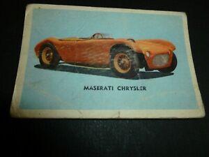MASERATI-CHRYSLER-ITALY-CAR-no-17-CARTE-CARD-KARD-SPORTS-CAR-PARKHURST-1956