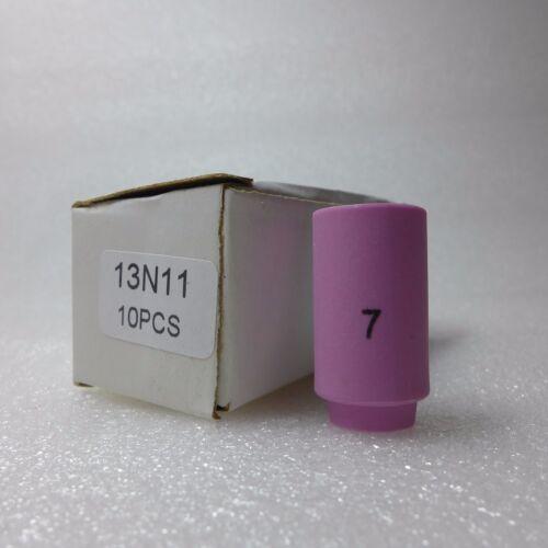 13N11 #7 Tig Nozzle Alumina Ceramic Cup TIG Welding Torch SR WP 9 20 25 10PK